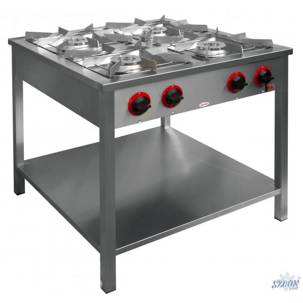 Kuchnia gazowa 4 palnikowa z półką TG 4xx III  SZRON   -> Kuchnia Gazowa Profesjonalna